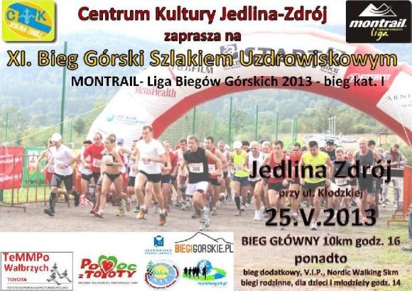 Bieg G Szlakiem uzdr 2013 - plakat