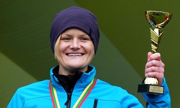 Maraton Zielone Sudety - Ania z pucharem