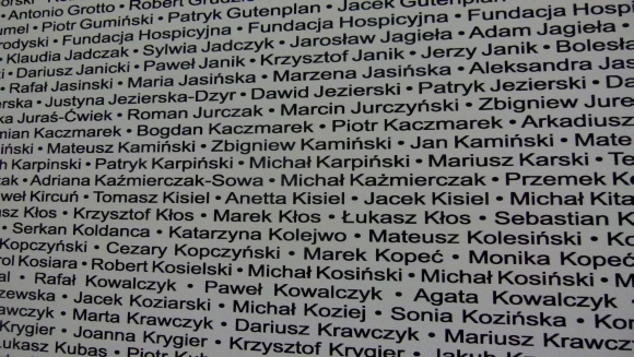 Łódź maraton - tablica