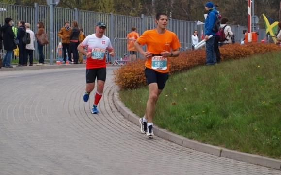 Łódż Maraton - mój finisz