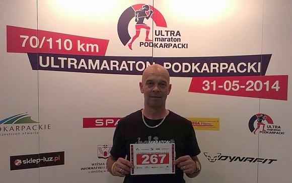 Marek przed startem w Podkarpackim