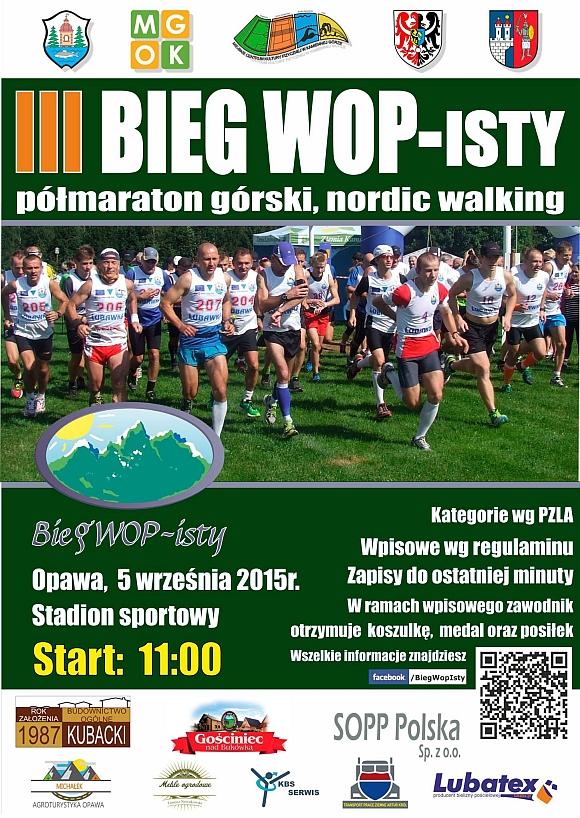 Bieg WOPisty - plakat - mały