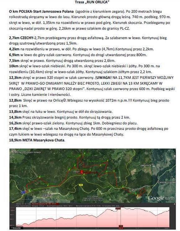 Jamrozowa  - opis trasy