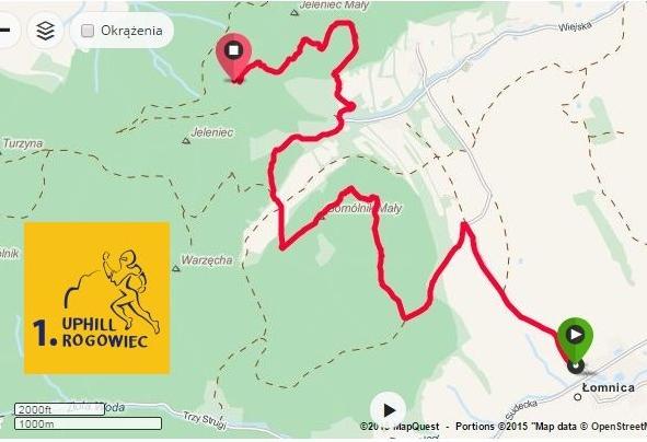 Rogowiec - trasa